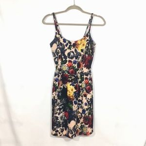 Soprano floral strappy Dress women's size: M